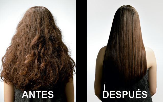 alisado brasileó antes y después